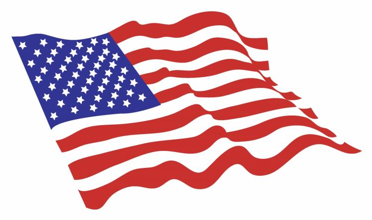 free animated clip art american flag - photo #29