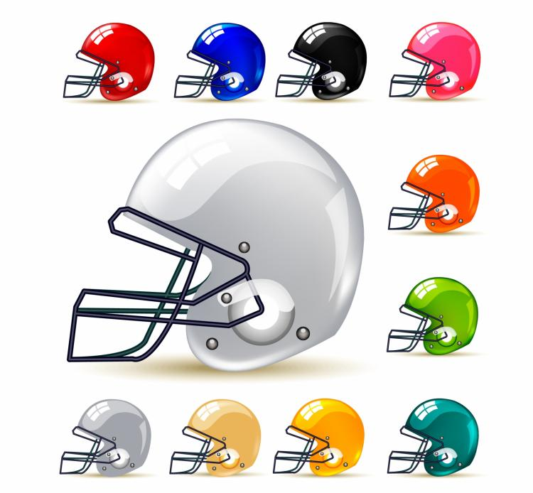 free vector American football / gridiron helmets