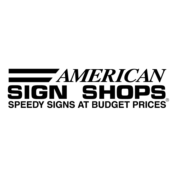 free vector American sign shops