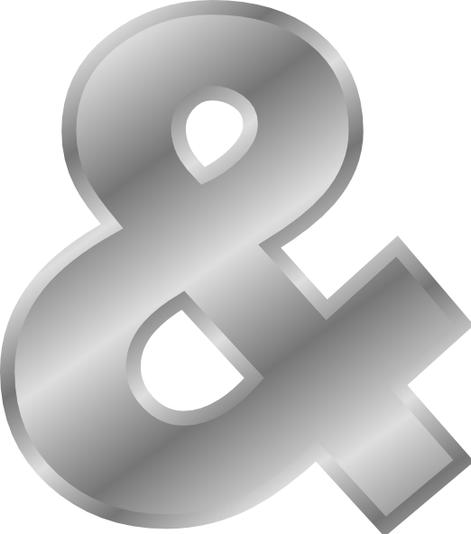 free vector Ampersand Effect Letters Alphabet Silver  clip art