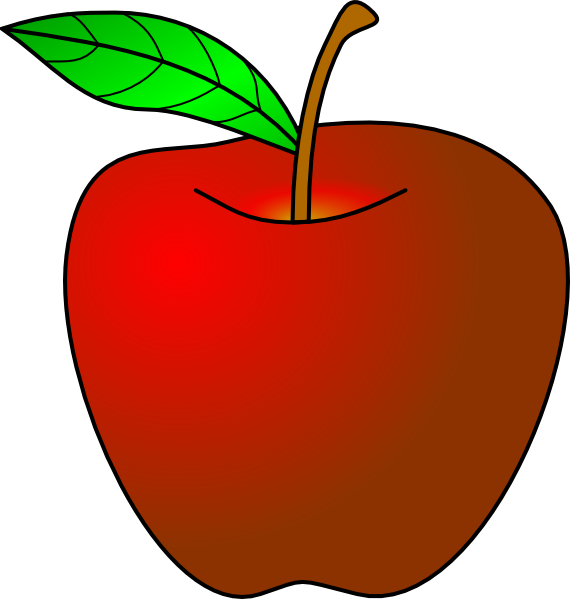 An Apple clip art Free Vector / 4Vector