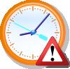 free vector Analog Clock Warning clip art