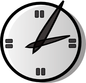 free vector Analogue Clock clip art