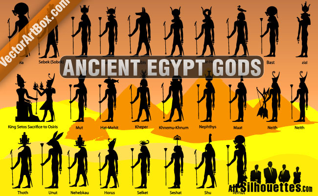 free vector Ancient Egypt Gods