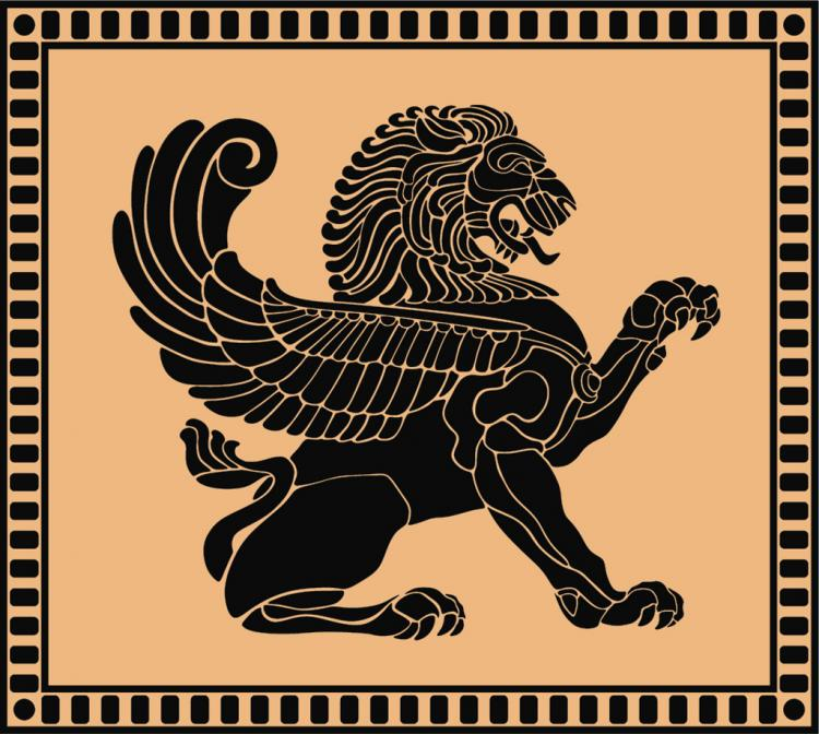 free vector Ancient Lion Shield