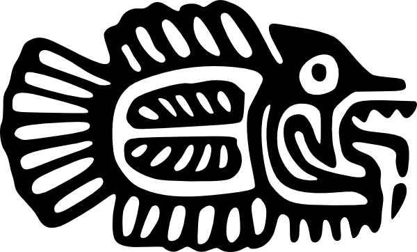 free vector Ancient Mexico Motif Fish clip art