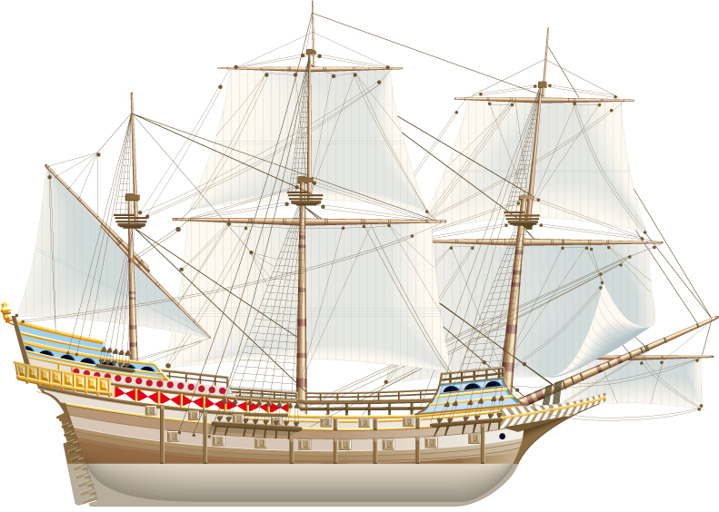 free vector Ancient sailing vector