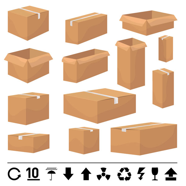 free vector And carton box template vector