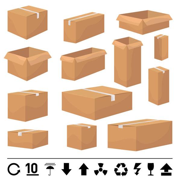 And carton box template vector free vector 4vector for Box template vector