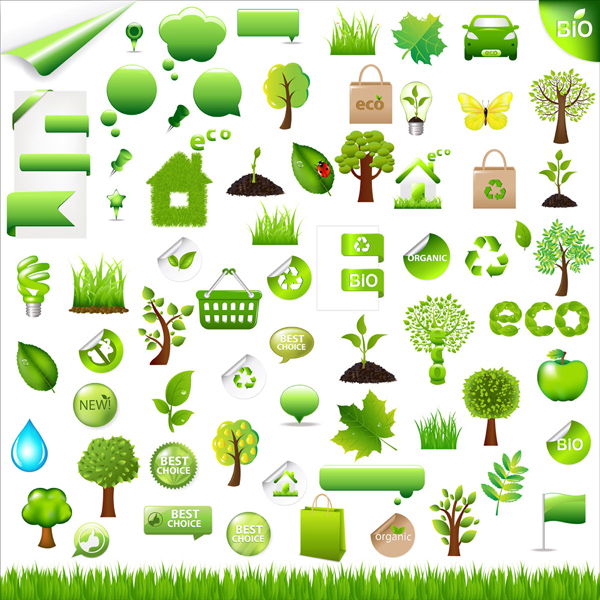 free vector And environmental protection green vector on