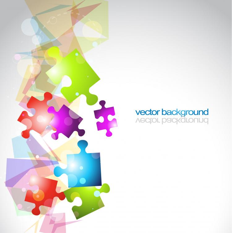 free vector And threedimensional shape of the colorful background vector