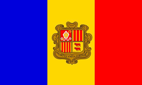 free vector Andorre Flag clip art