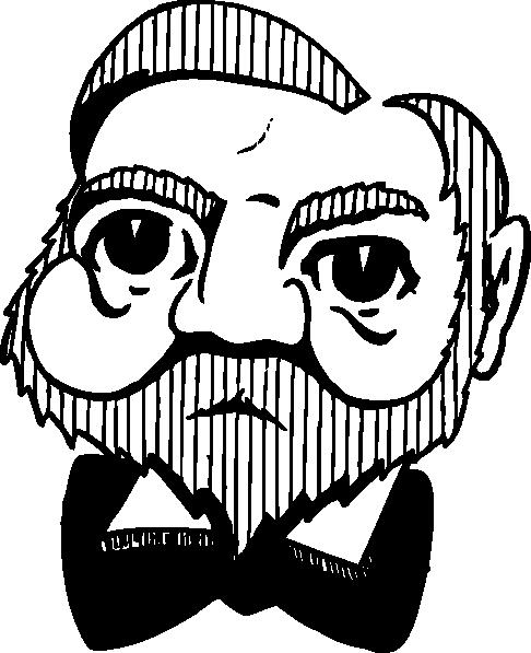 free vector Andrew Carnegie clip art