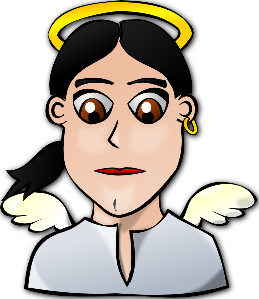 free vector Angel Face Cartoon clip art