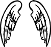 free vector Angel Wings Tattoo clip art
