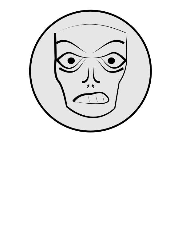 free vector Angry Face