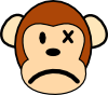 free vector Angry Monkey clip art