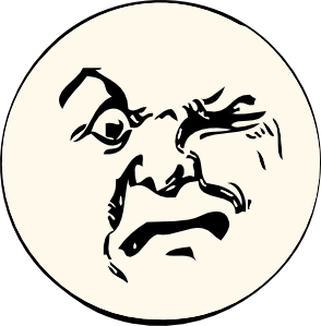 free vector Angry Moon clip art