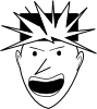 free vector Angry Punk clip art