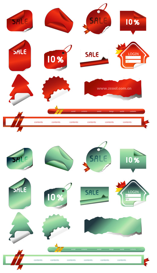 free vector Angular vector of tag stickers