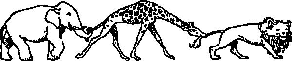 free vector Animal Parade clip art