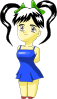 free vector Anime Girls Cartoon clip art