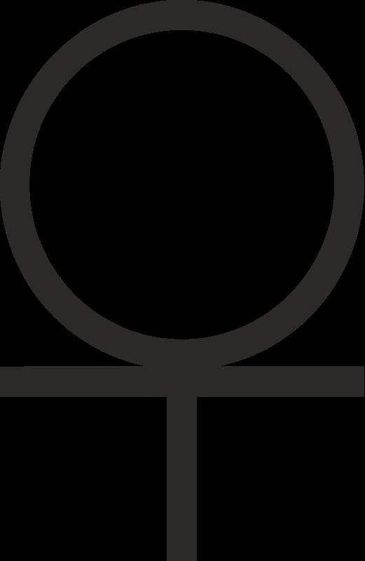 free vector Ankh cross 3/4 Below Circle