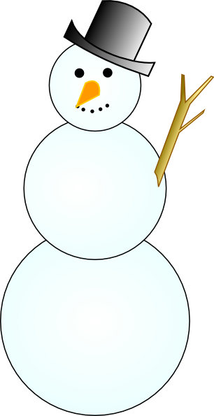 free vector Another Snowman clip art