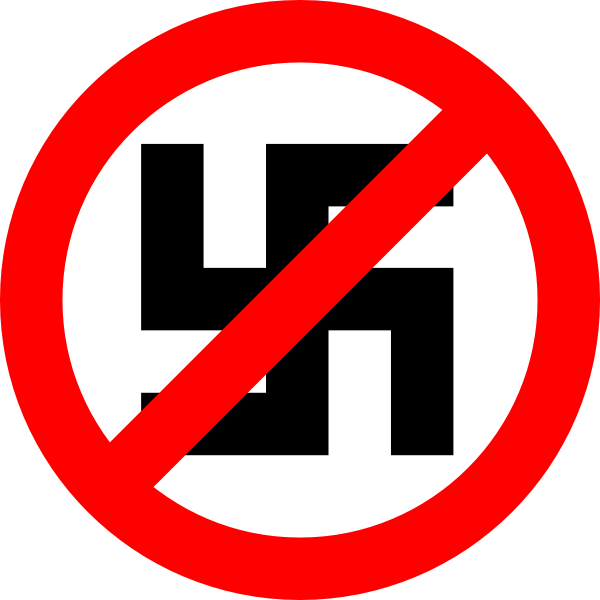 free vector Anti Nazi Symbol clip art