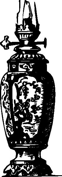 free vector Antique Decorative Gas Lamp clip art