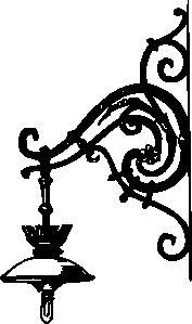 free vector Antique Decorative Outdoor Electric Lamp clip art