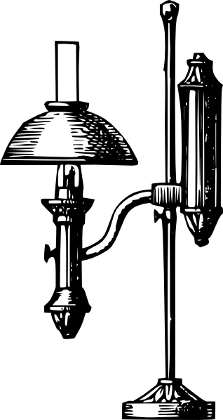 free vector Antique Desk Electric Lamp clip art