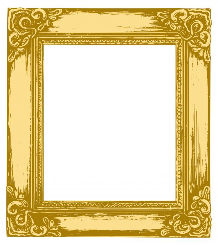 antique gold frame 05 vector free vector 4vector