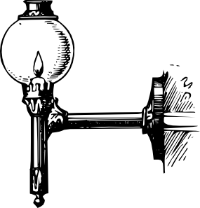 free vector Antique Outdoor Lantern clip art