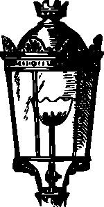 free vector Antique Street Lantern clip art