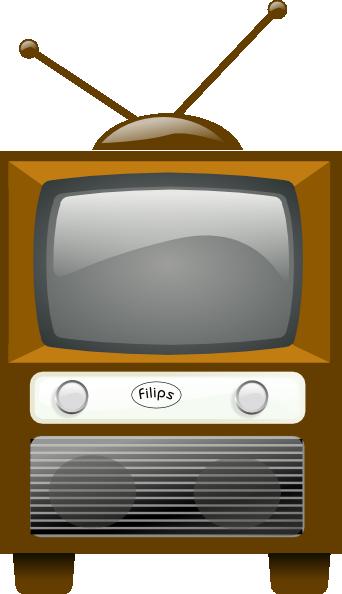 Antique Television clip art Free Vector / 4Vector
