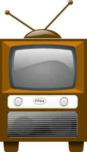 free vector Antique Television clip art