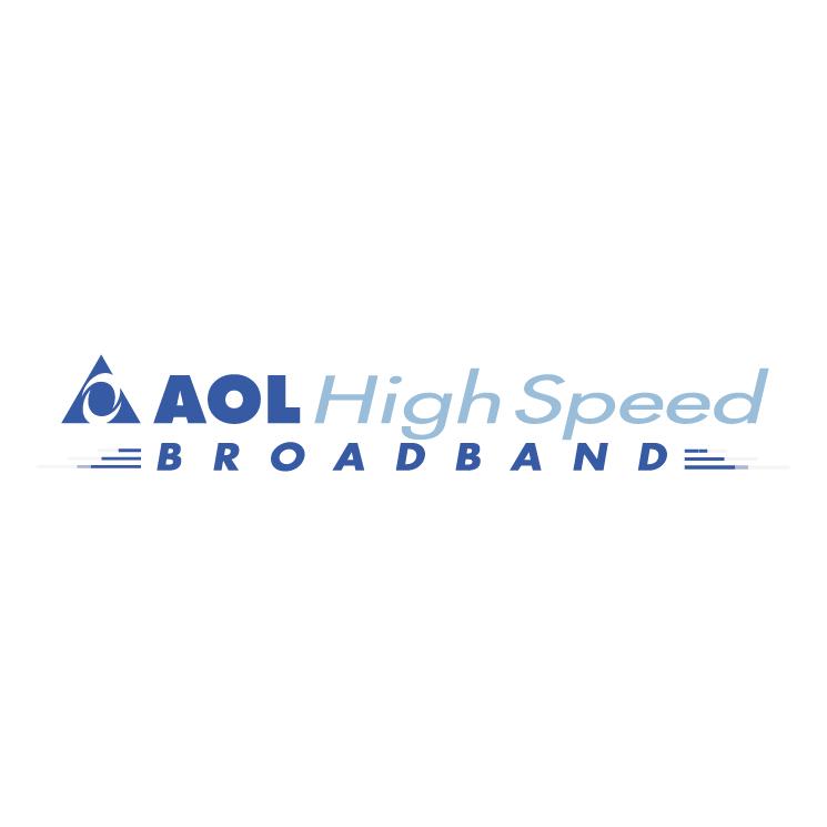 free vector Aol high speed broadband