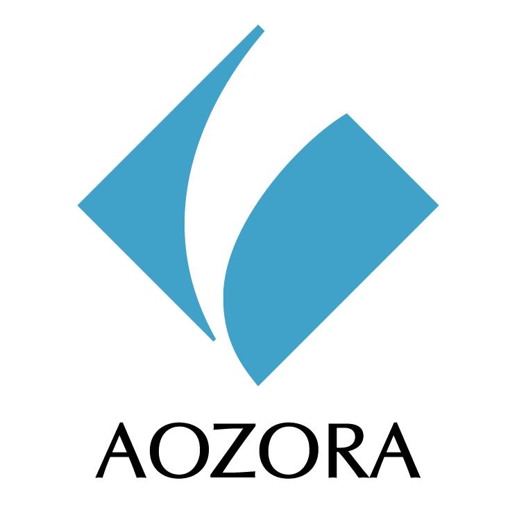 free vector Aozora bank