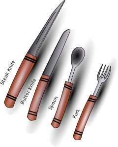 free vector Apbiehle Simple Cutlery Silverware clip art