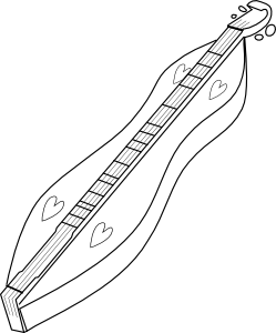 free vector Appalachian Dulcimer clip art