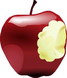 free vector Apple Bitten clip art