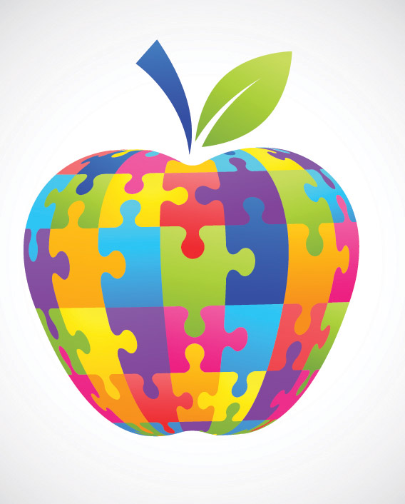 free vector Apple clip art puzzle
