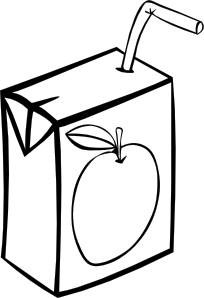 free vector Apple Juice Box (b And W) clip art
