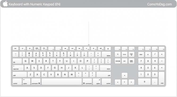 free vector Apple keyboard Vector, Mac