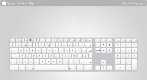 free vector Apple Keyboard