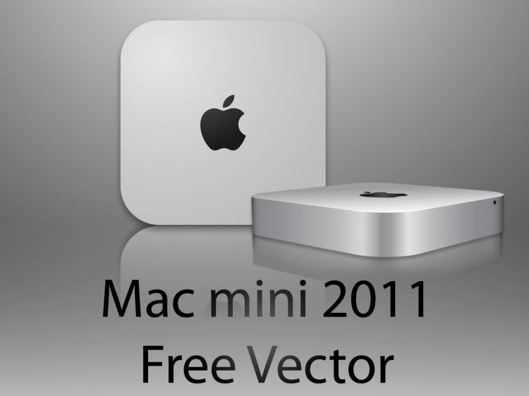 free vector Apple Mac mini 2011 free vector