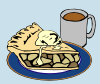 free vector Apple Pie And Coffee clip art