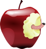 free vector Apple With Worm clip art