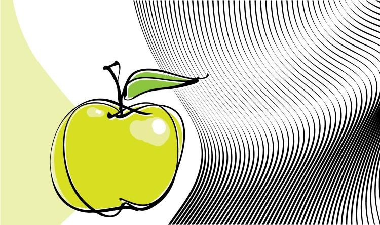 free vector Appledesigned templates vector line drawing 5